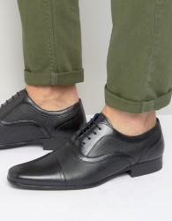 Red Tape Etched Lace Up Smart Shoes - Black