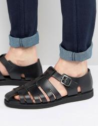 Red Tape Gladiator Sandals In Black - Black