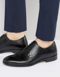Red Tape Lace Up Smart Shoes In Black Leather - Black