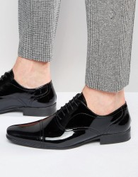 Red Tape Oxford Shoes In Patent Leather - Black