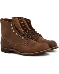 Red Wing Shoes Iron Ranger Boot Copper Rough/Tough Leather men US11 - EU44 Brun