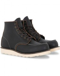 Red Wing Shoes Moc Toe Boot Black Prairie Leather men US10,5 - EU43,5 Sort