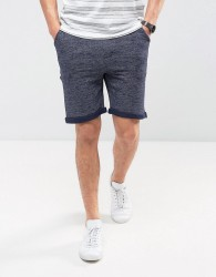 Redefined Rebel Jersey Short With Distressing And Raw Hems - Blue
