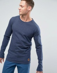 Redefined Rebel Sweatshirt With Curved Hem - Navy