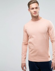 Redefined Rebel Sweatshirt With Curved Hem - Pink
