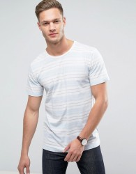 Redefined Rebel T-Shirt In Multi Stripe - Blue