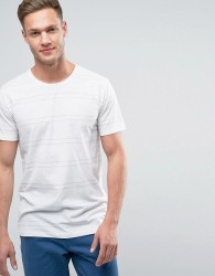Redefined Rebel T-Shirt In Multi Stripe - White