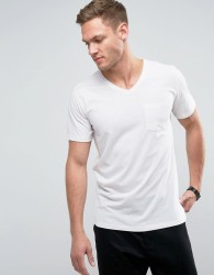 Redefined Rebel V-Neck Pocket T-Shirt - White