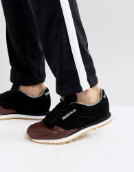 Reebok Classic Leather LS Trainers In Black BS5079 - Black