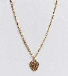 Regal Rose 18k gold plated heart pendant necklace - Gold