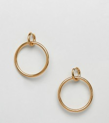 Regal Rose Oria gold plated interlinking hoop earrings - Gold