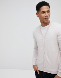 Reiss 100% Merino Wool Cardigan - Cream