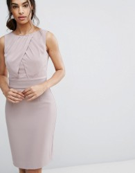 Reiss Benoit Fitted Day Dress - Pink
