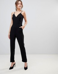 Reiss Bonnie Double Layered Jumpsuit - Black
