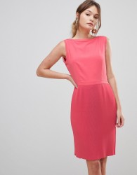 Reiss Copper Pleated Pencil Dress - Pink