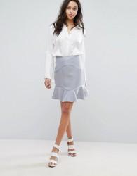 Reiss Ella Mixed Texture A Line Skirt - Pink