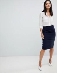 Reiss Faulkner Tailored Pencil Skirt - Navy