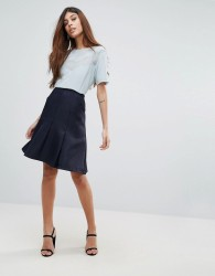 Reiss Fit and Flare Skirt - Navy