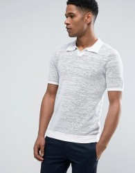 Reiss Knitted Polo - Grey