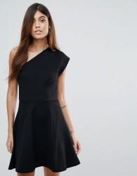 Reiss One-Shoulder Dress - Black