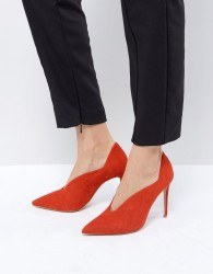 Reiss Pointed Court Shoe - Red