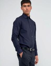 Reiss Regular Smart Shirt with Cutaway Collar - Navy