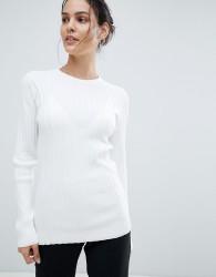 Reiss Ribbed Turtleneck Top - White