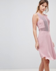 Reiss Rosa Velour Dress - Pink
