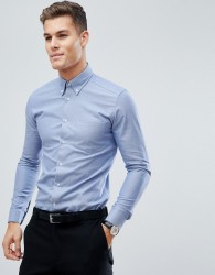 Reiss Slim Button Down Shirt - Blue