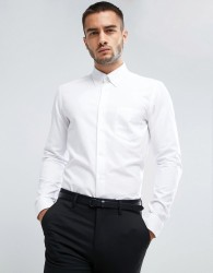 Reiss Slim Button Down Shirt - White