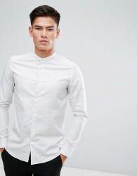 Reiss Slim Grandad Shirt - White