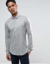 Reiss Slim Smart Shirt with Concealed Placket - Green