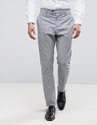 Reiss Slim Smart Trouser in Prince of Wales Check - Grey