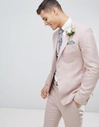 Reiss Slim Suit Jacket In Light Pink - Pink