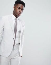 Reiss Slim Suit Jacket In Linen - Beige