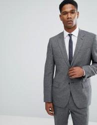Reiss Slim Suit Jacket In Salt N Pepper - Black