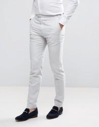 Reiss Slim Suit Trouser In Linen - Beige