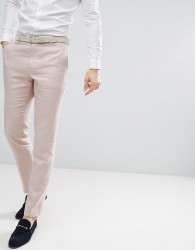 Reiss Slim Suit Trousers In Light Pink - Pink