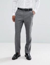 Reiss Slim Suit Trousers In Salt N Pepper - Black
