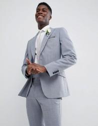 Reiss Slim Wedding Suit Jacket In Wool Mix - Blue