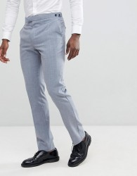 Reiss Slim Wedding Suit Trousers In Wool Mix - Blue