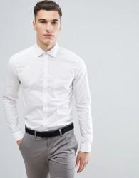 Reiss Smart Shirt In White Poplin - White