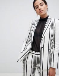 Reiss Striped Rodeo Blazer - White
