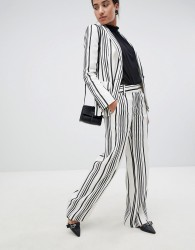 Reiss Striped Rodeo Tailored Trousers - White