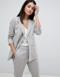 Reiss Tailored Double Breasted Pinstripe Jacket - Grey