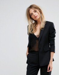 Reiss Tailored Textured Jacket - Black