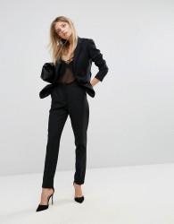 Reiss Tailored Textured Slim Leg Trouser - Black