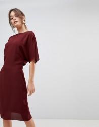 Reiss True Fitted Cape Dress - Navy