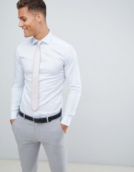 Reiss wedding slim fit smart shirt in blue - Blue