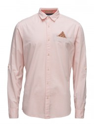 Relaxefit Classic Shirt With Fixepochet Ansleeve Colle